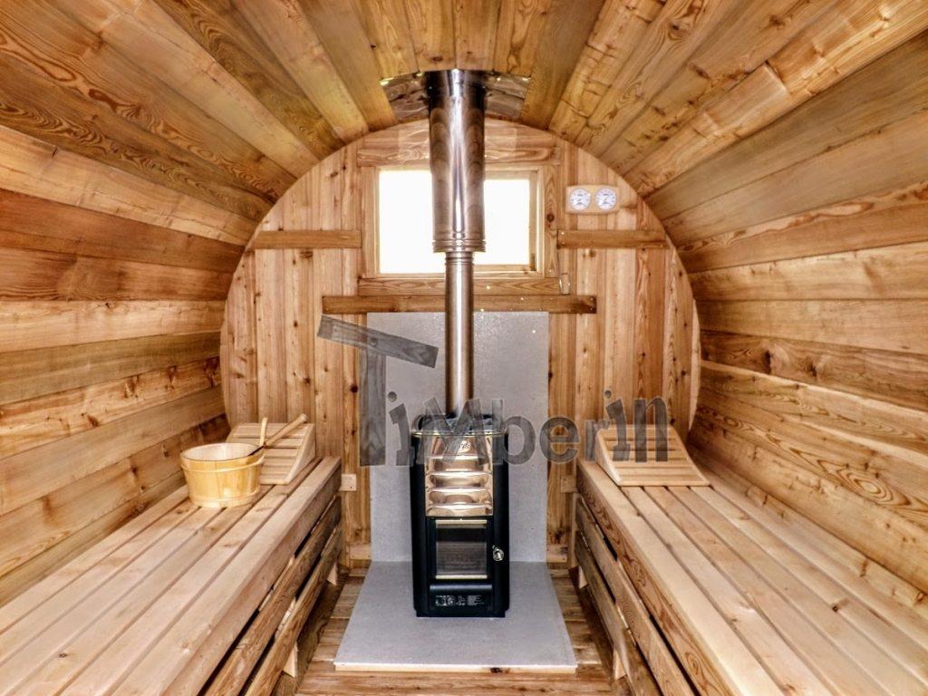 Harvia træbrænder i tønde sauna