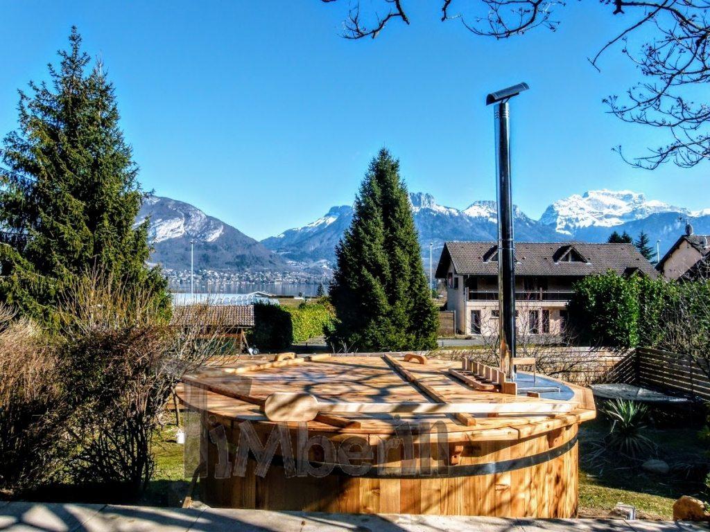 træ vildmarksbad projekt i Frankrig