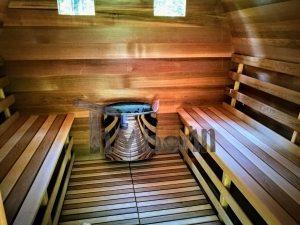 Have sauna med Harvia vega elvarmer