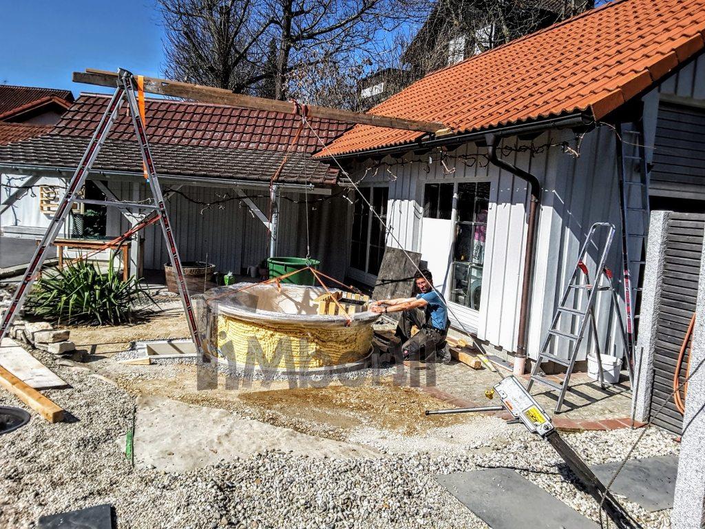forberedelse af indbygget udendørs jacuzzi model