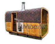Udendørs tønde sauna rektangulært design
